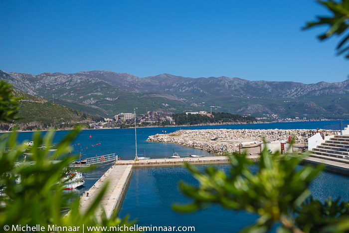 Marina with boats in Montenegro