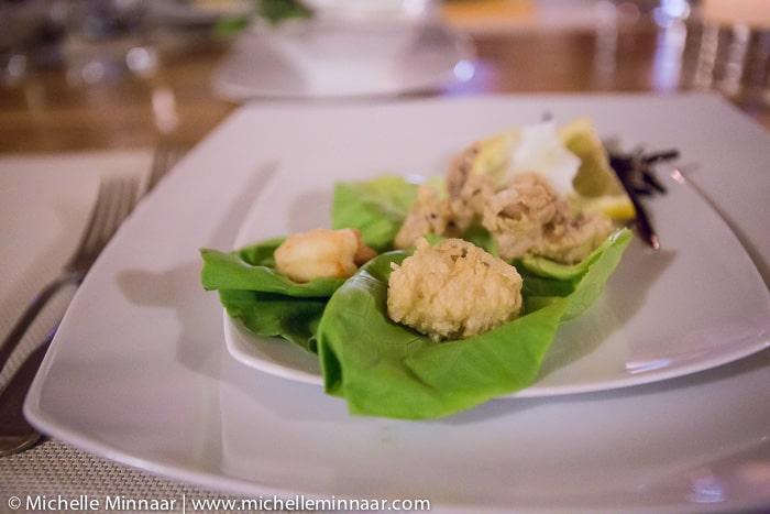 Crispy cod, prawn and calamari
