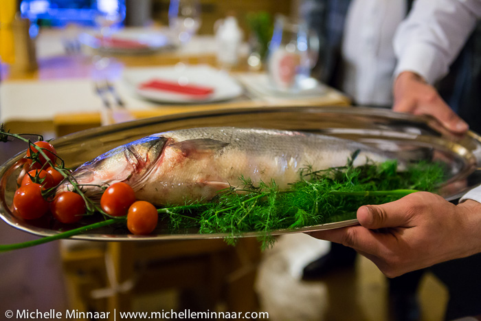 Fish with dill and cherry tomatoes
