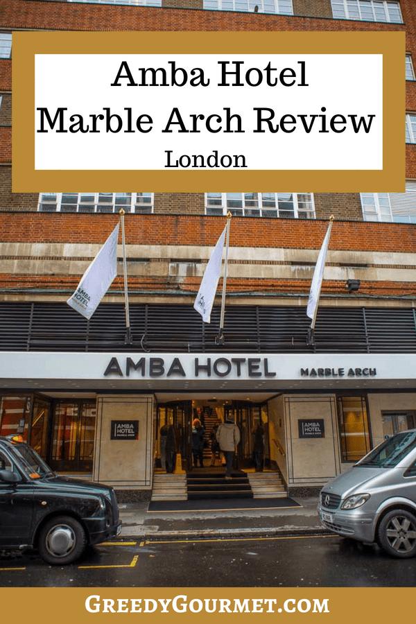 Amba Hotel Review Pin