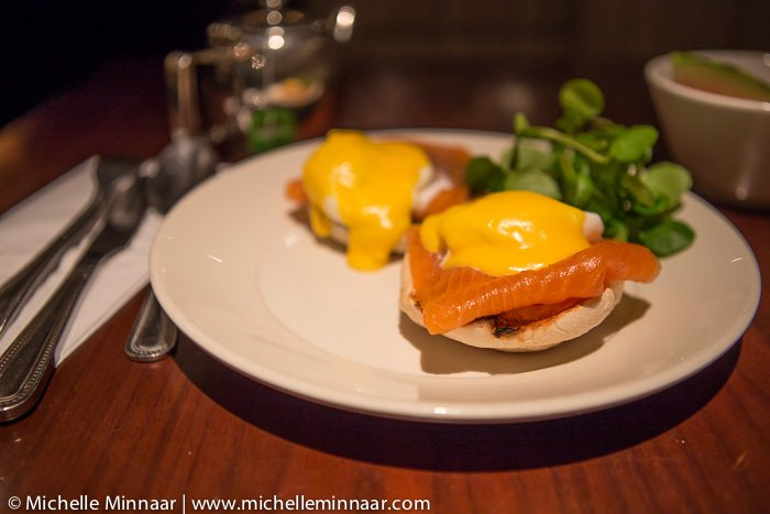 Poached Eggs, Smoked Salmon with Hollandaise Sauce