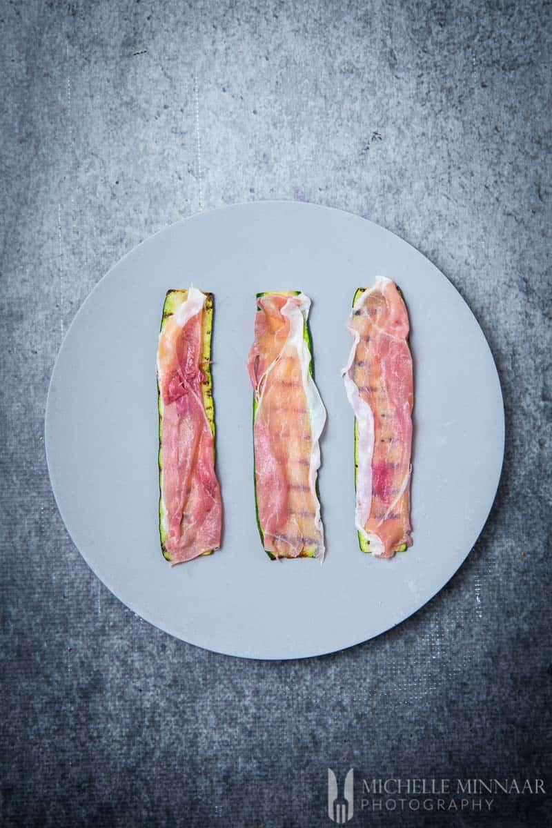 Courgette Ham
