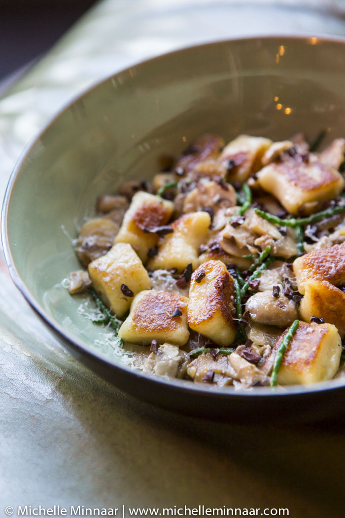Gnocchi with Samphire and Chestnuts