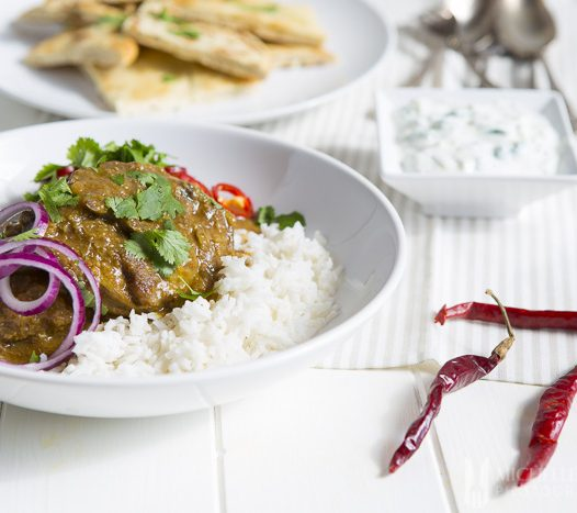 Lamb, rice, onion, chill and coriander