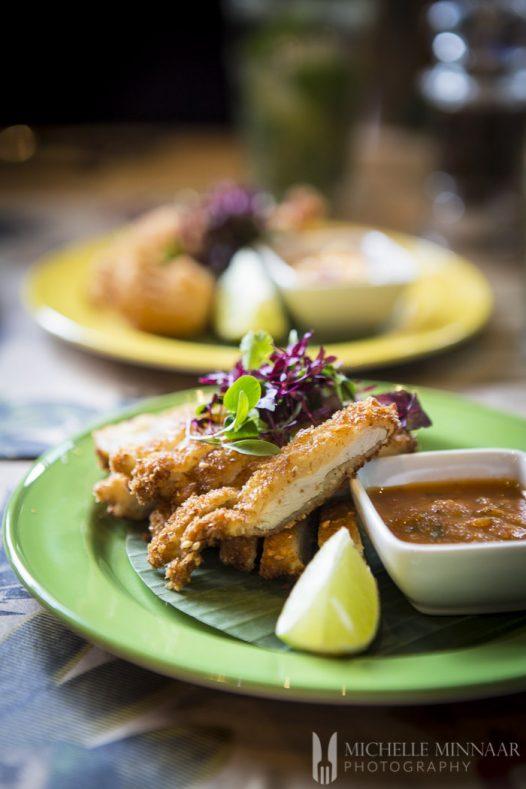 Chicken and salsa