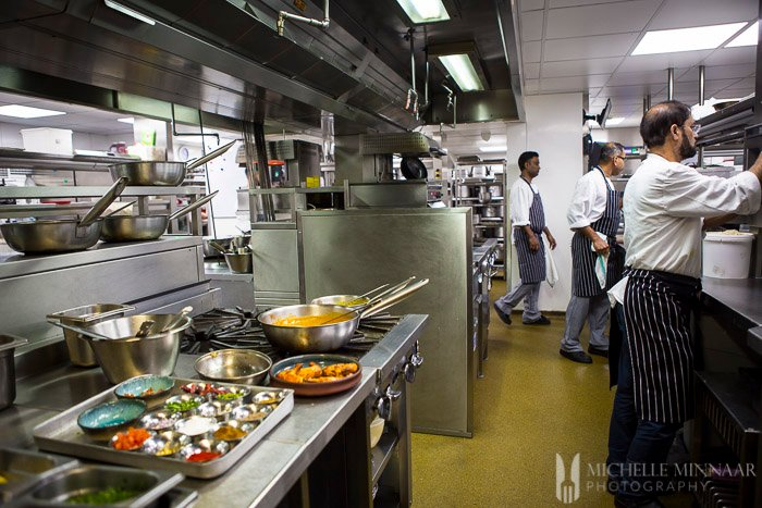 Professional Indian Restaurant Kitchen
