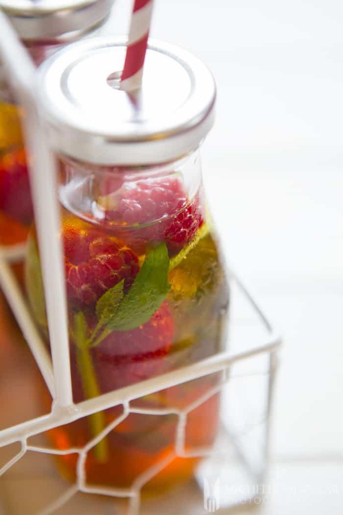 Close up shot of bottled drink