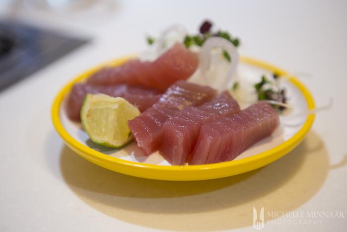 Raw Fish Slices