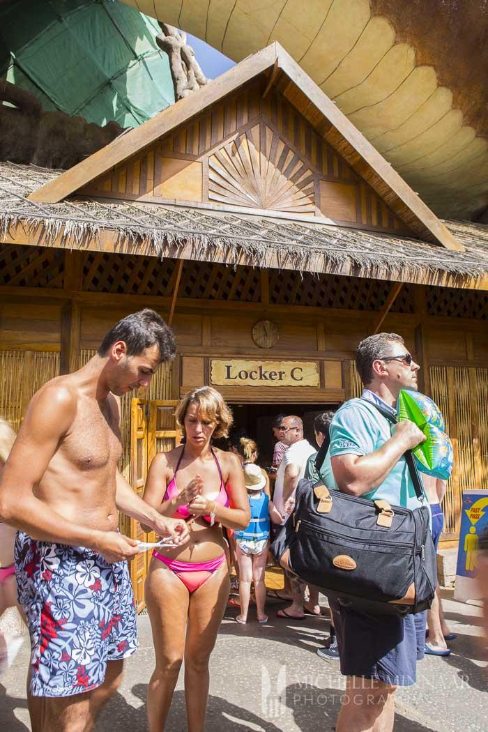 Lockers around theme park