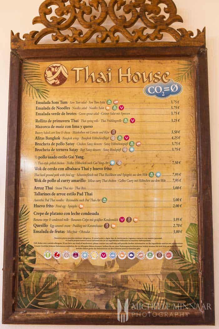Thai House Menu