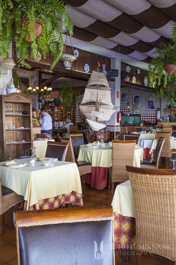 Boat themed restaurant