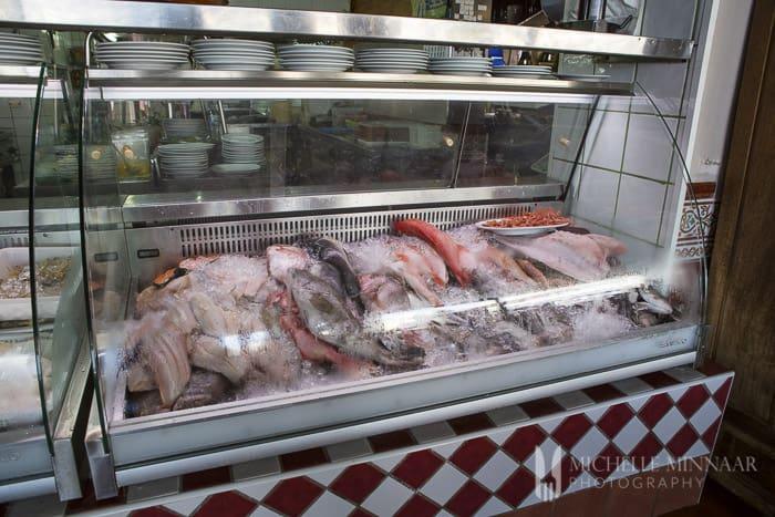 Fresh fish at La Masia del Mar