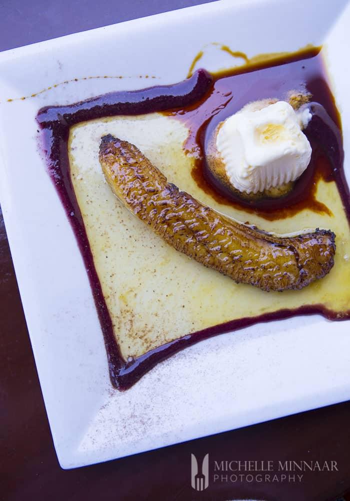 Fried Banana with Ice Cream