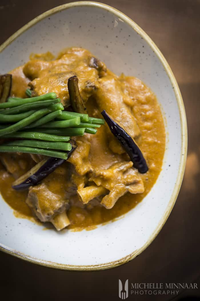 A plate of kare kare, oxtail