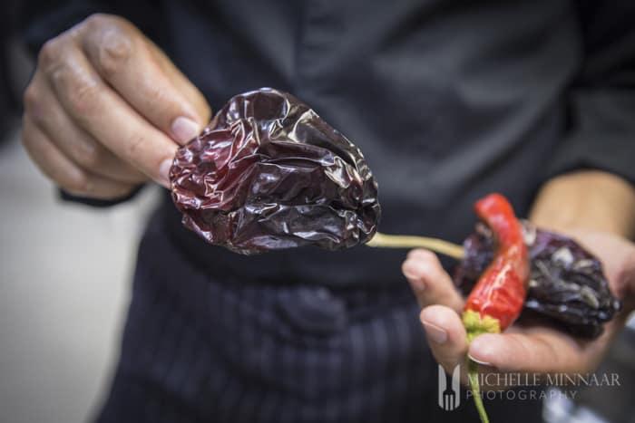 Dried Canarian pepper