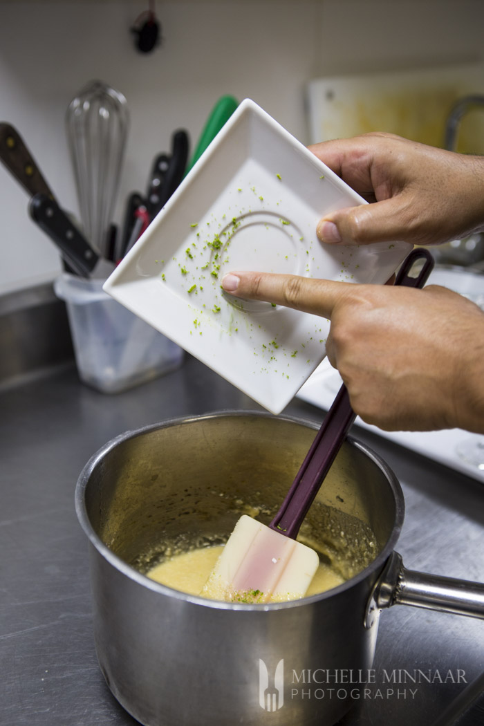 Lime adds flavour to pudding