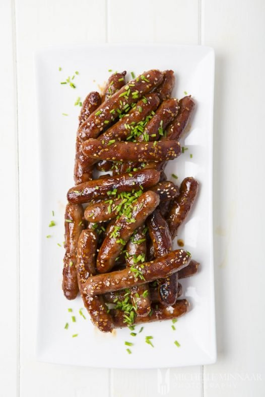 Authentic Hoisin Honey Glazed Chipolatas
