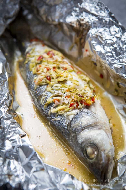 Thai Sea Bass Baked