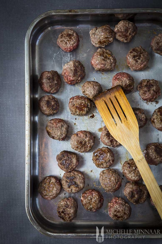 Beef Meatballs Browned