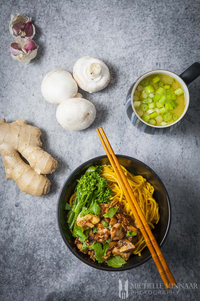 Authentic Chicken Mushroom Noodle Soup