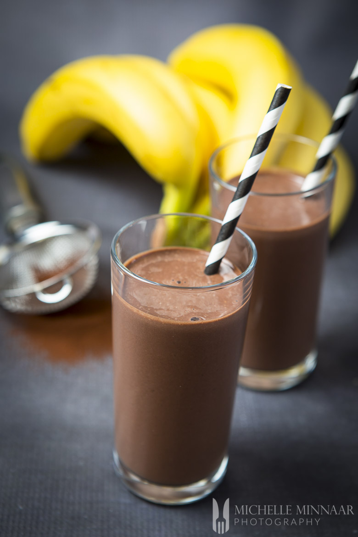 Authentic Chocolate Banana Protein Shake
