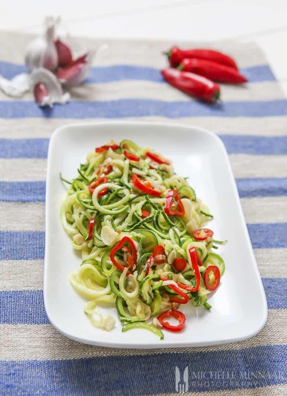 Chilli Courgetti with Garlic