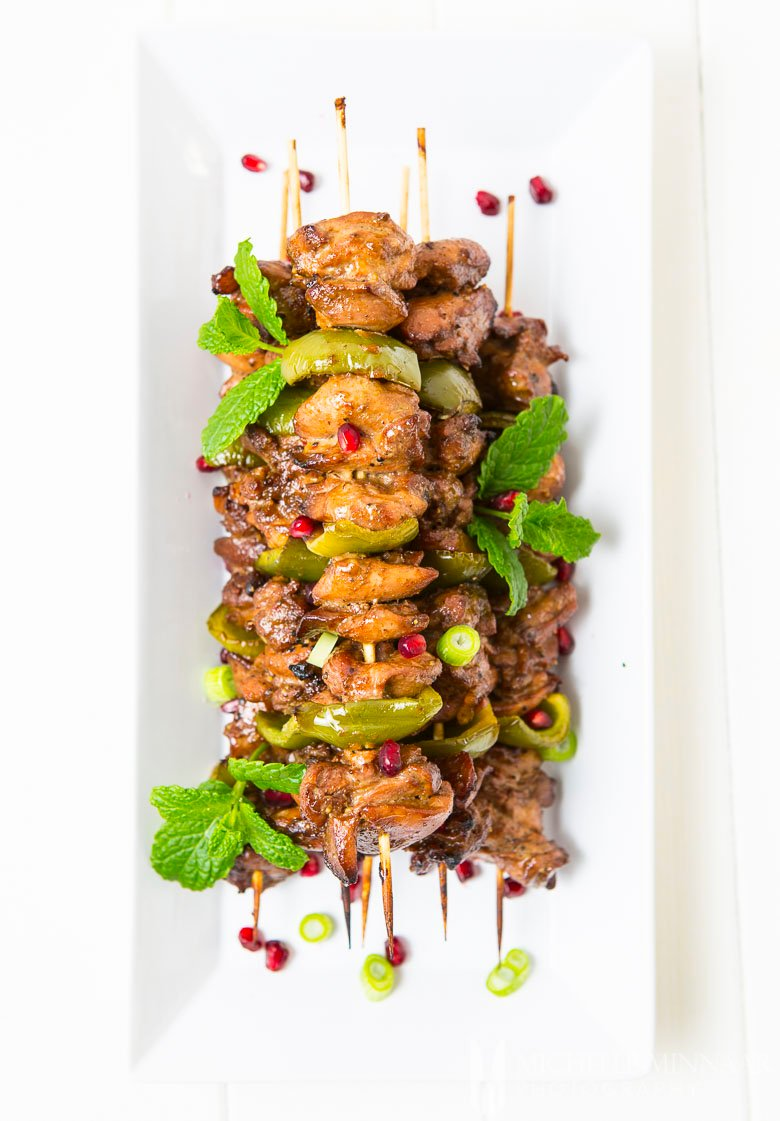 Cumin Chicken Skewer of Pomegranate Cumin 2 Chicken Skewer