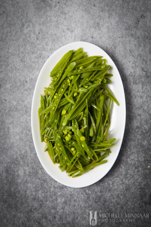 Asian Dressing Raw Peas