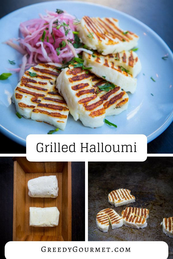 Grilled Halloumi pin