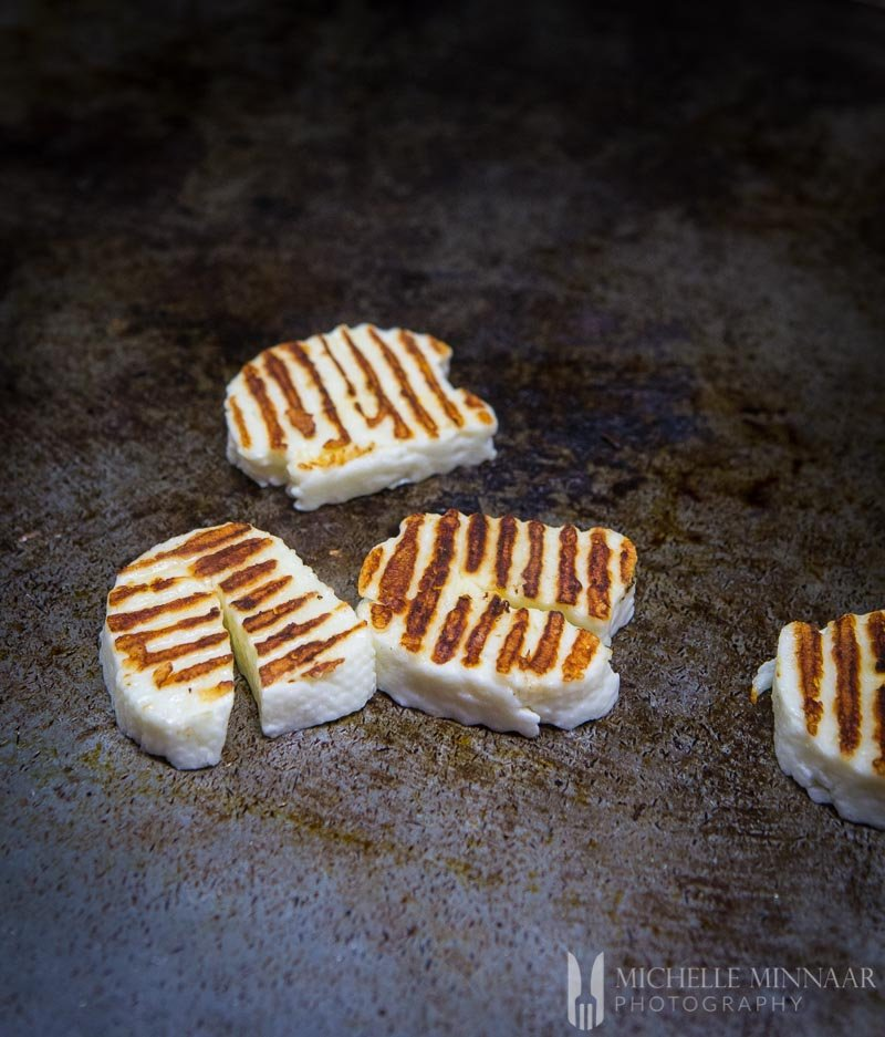 Halloumi Browned with grill marks