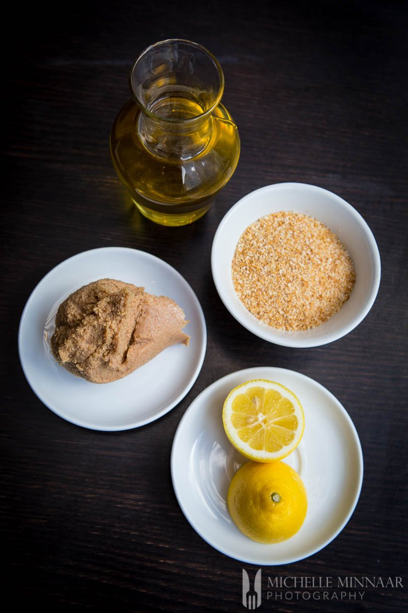 Breadcrumbs Oil Cod Roe Lemon