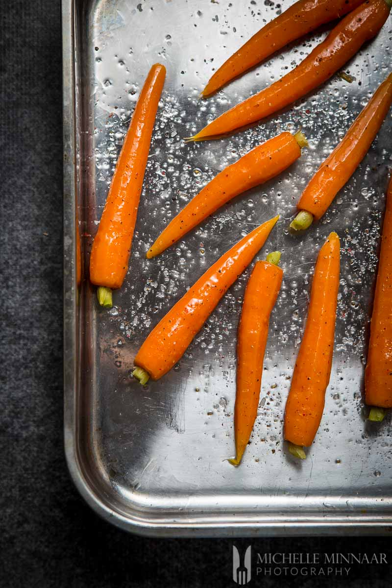 Oven Oiled Carrots