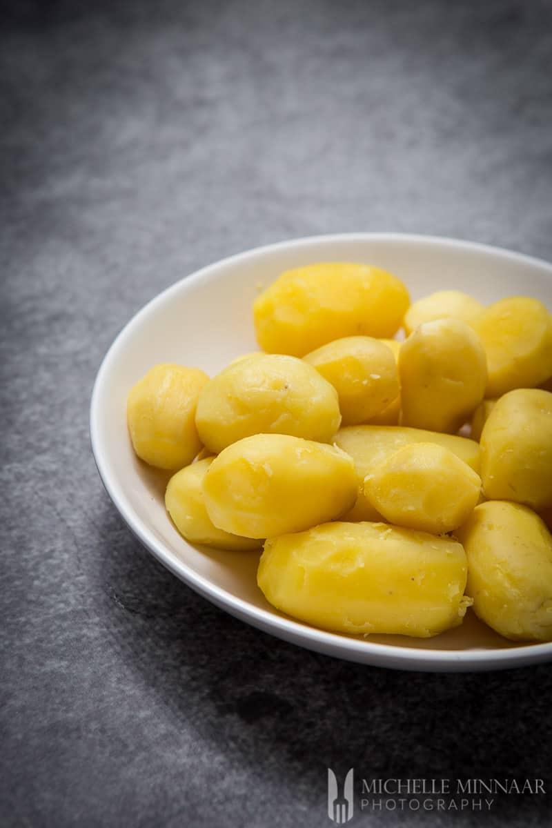 Potatoes Peeled Cooked