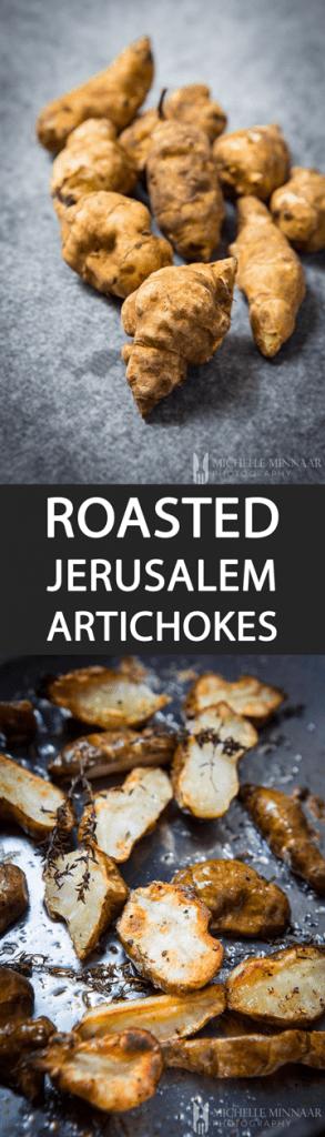 Pin Roasted Jerusalem Artichokes