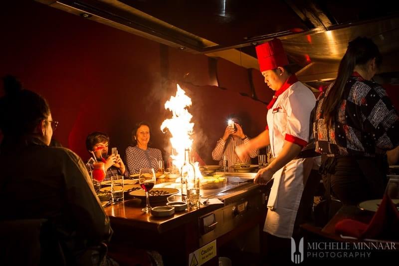 Benihana chef working
