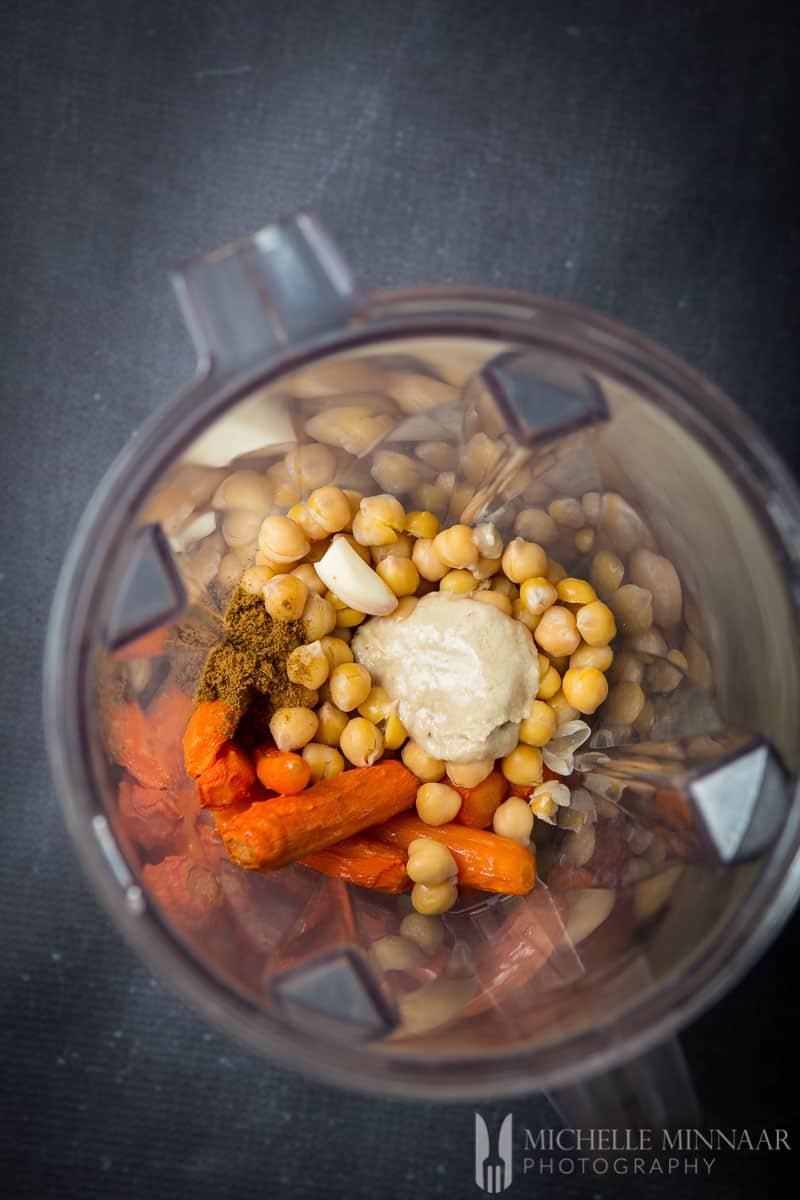 Blender Hummus Ingredients