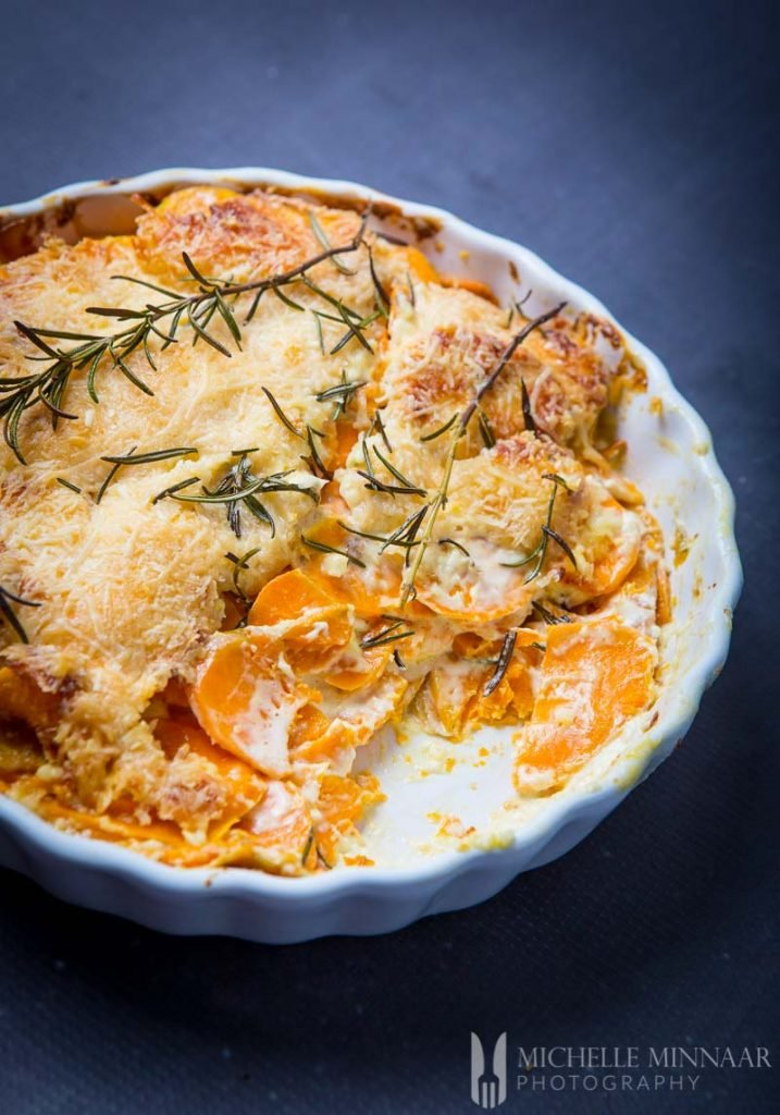 Sweet Potato Gratin Inside