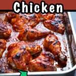 Sheetpan of bbq chicken