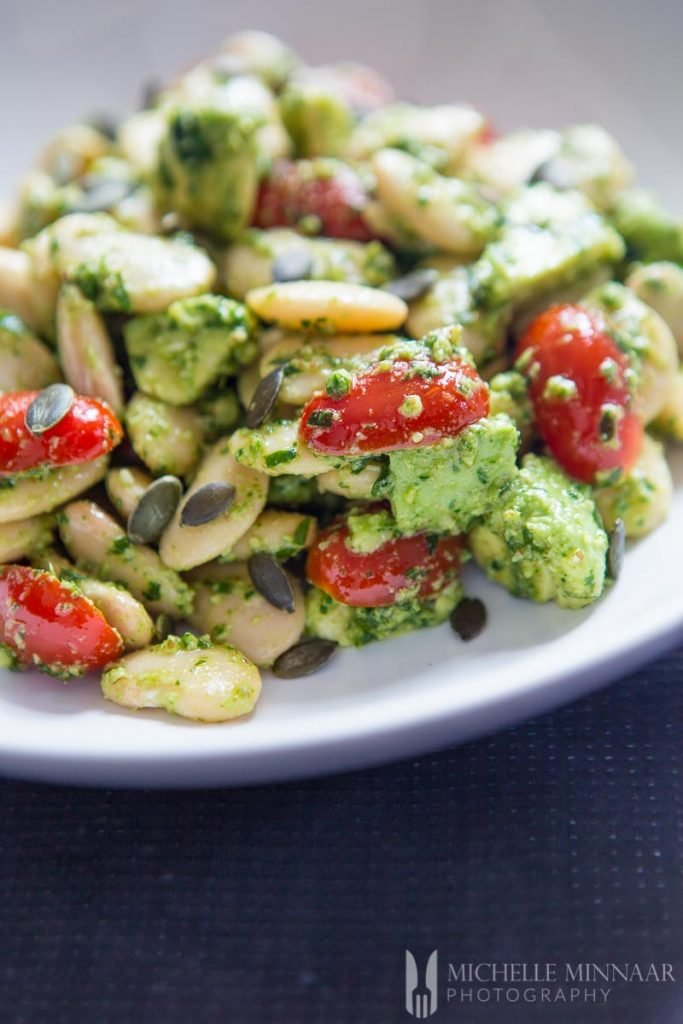 Pesto With Butter Bean Salad