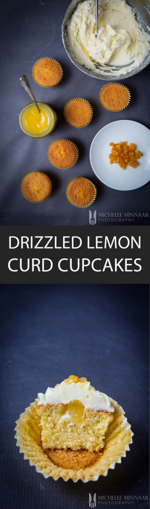 Drizzled Lemon Curd Cupcakes