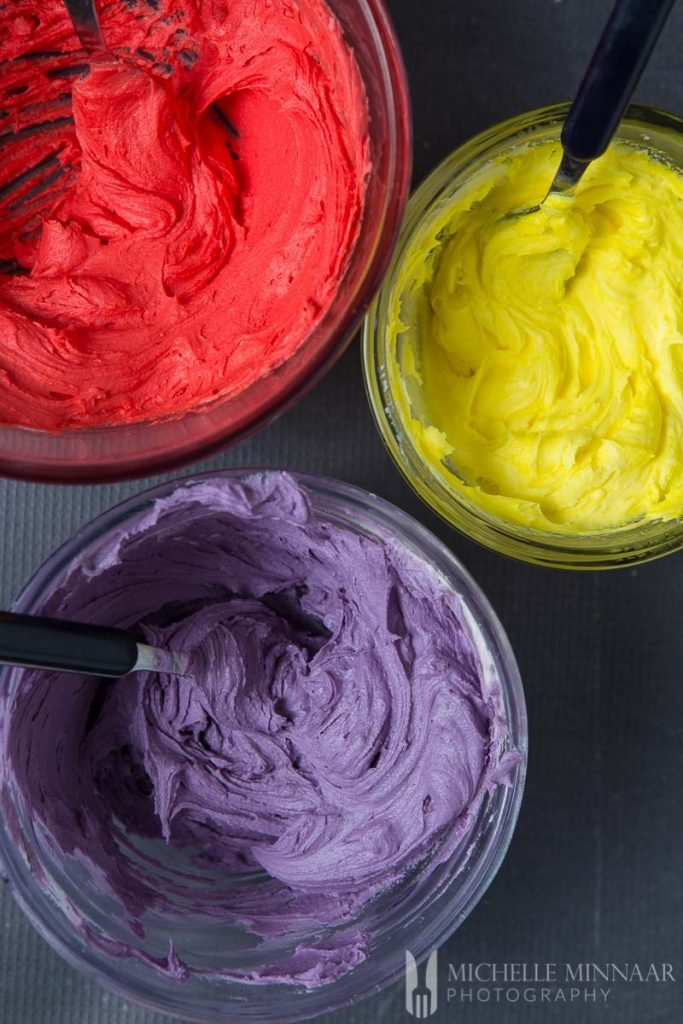 Icing Red Purple Yellow