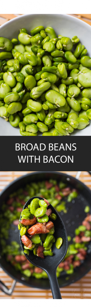 Broad Beans Bacon