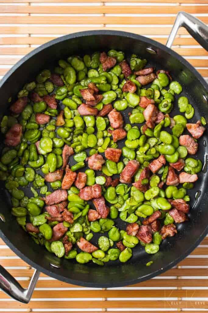 Broadbeans Bacon