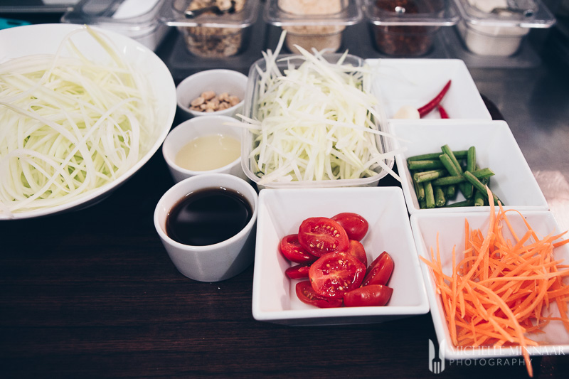Ingredients Green Papaya Salad