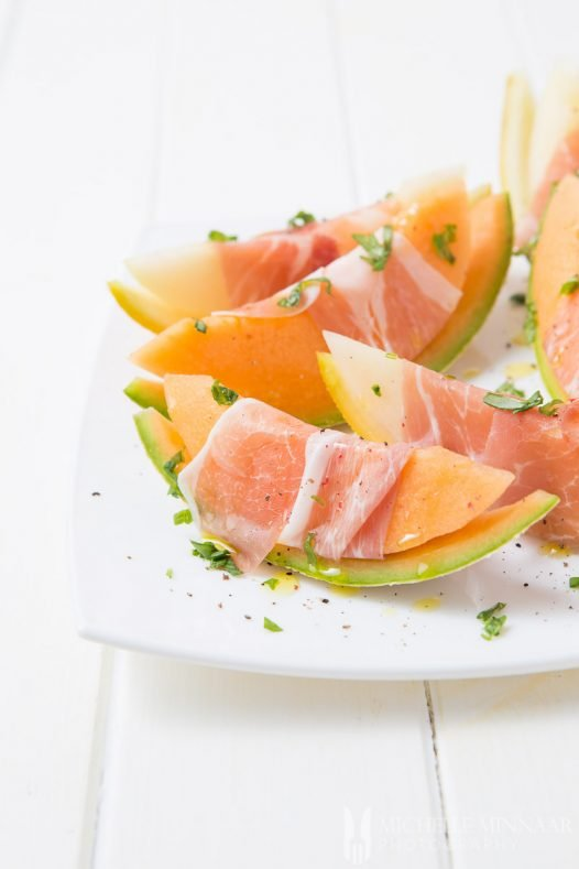 Parma Ham Melon Wrapped
