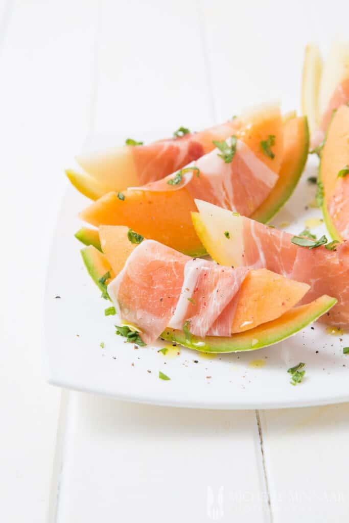 Parma Ham Melon Wrapped