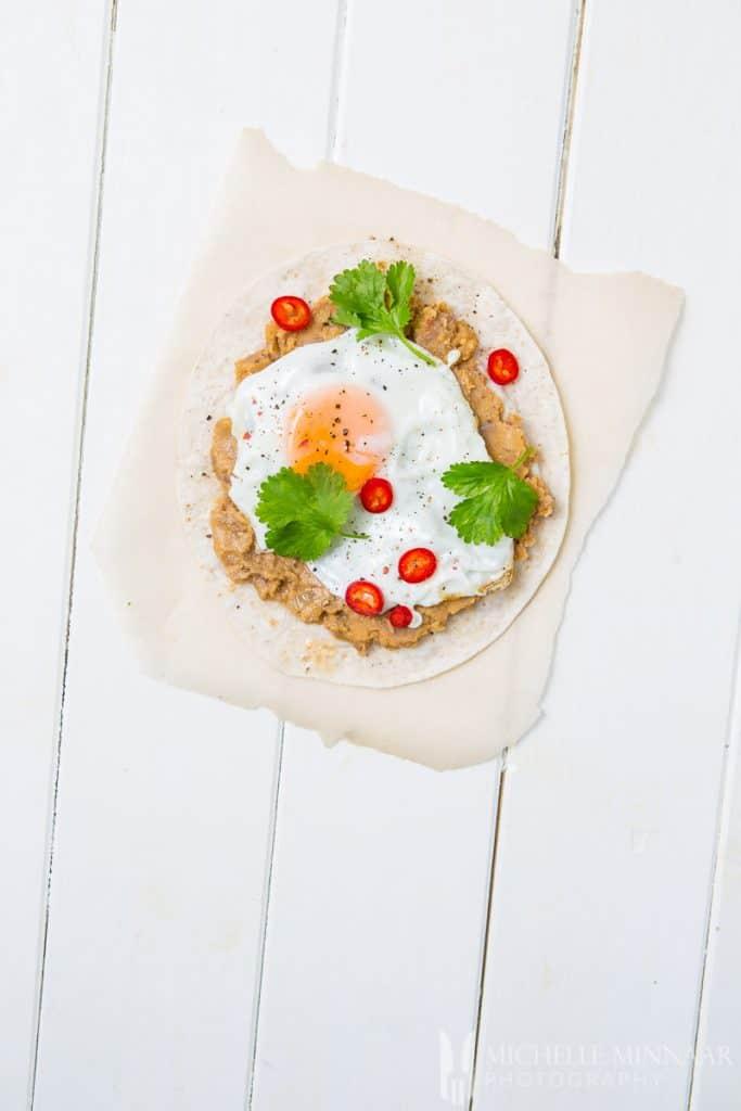 Egg Tortilla Refried Beans