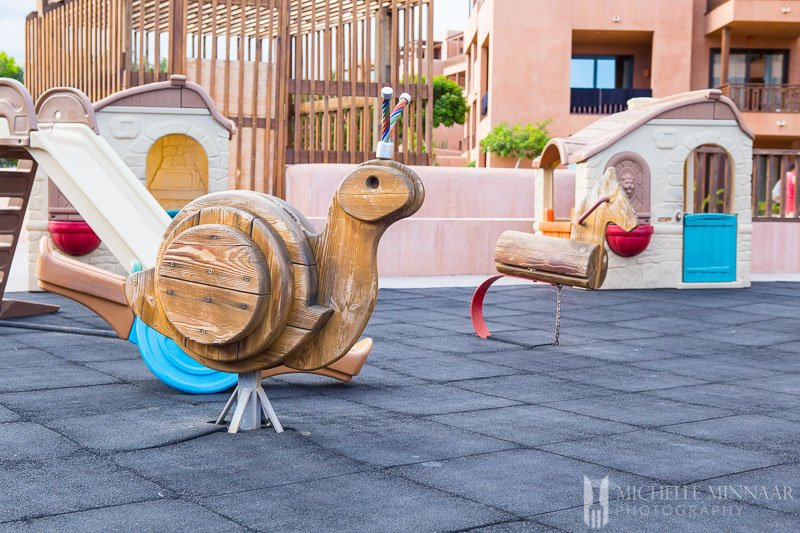 Wooden snail rocking chair