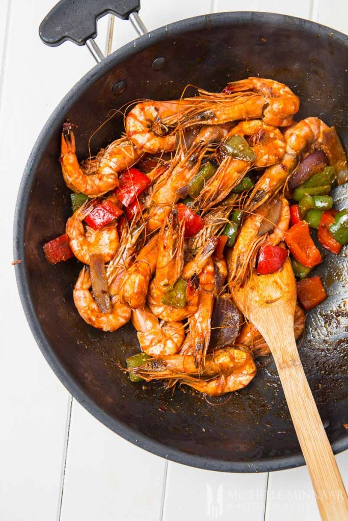 Stirfry Prawn Pepper