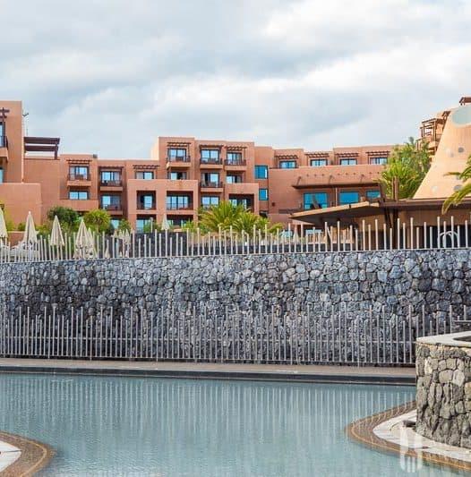 Huge terracotta building